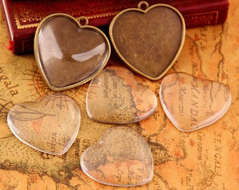 Clear Oval Heart Drop Flatback Glass Dome Seal Cabochon Tile Cameo 10 14 16 18 25 30 35 40 50 mm 5/16 3/8 3/4 5/8 1  1 3/8 1 9/16 2 inches