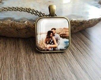 Personalised Photo Pendant Necklace, Personalized Photo Necklace, Mothers Day Gift, Gift for Mum, Gift for girlfriend, Gift for women