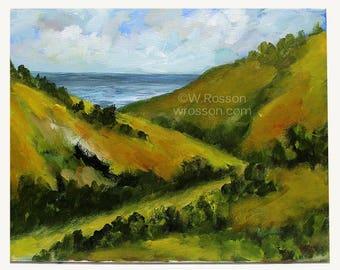Beach Trail, Original Painting, Original Art, Home Decor, Office Decor, Beach Chic, Rustic Beach, Coast, Seaside, Beach House, Winjimir, Art