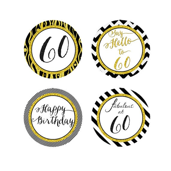 Items similar to 60th birthday cupcake toppers 60 Toppers birthday