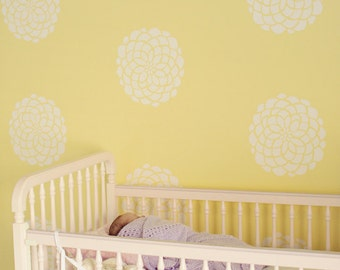 Flower Bloom Wall Decals, Vinyl Wall Decals, Wallpaper, Stickers, Vinyl Wall Graphics- item 10010