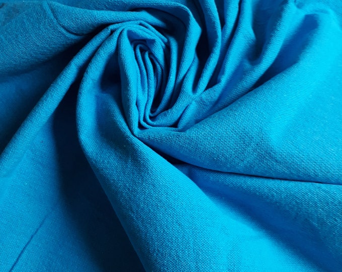 Cotton fabric thick solid plain South seas. 100% cotton. Made in Egypt. Cloth for bag making. Quilting patchwork