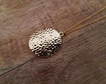 Gold Necklace Coin
