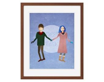 "Eternal Sunshine of the Spotless Mind print - ""Meet Me in Montauk."""