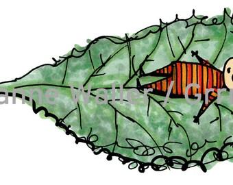 People with Food: kale digital printable clipart