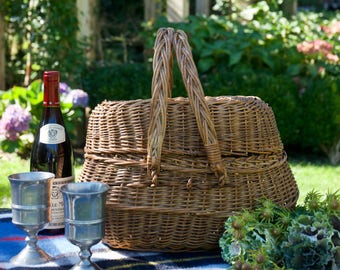 1930's French Foraging Basket
