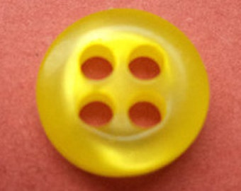 10 small yellow buttons 9mm (438)