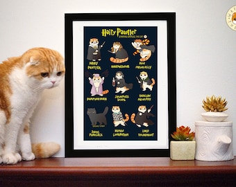 Hairy Pawtter: Funny Harry Potter Cat Poster