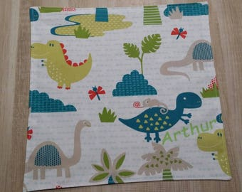Personalized dinosaur and JUNGLE canteen towel.