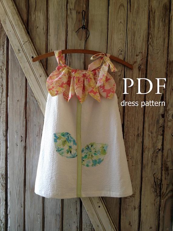 Sunny Flower Pillowcase Dress Pattern Tutorial. Girl's