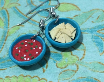 Chips and salsa earrings