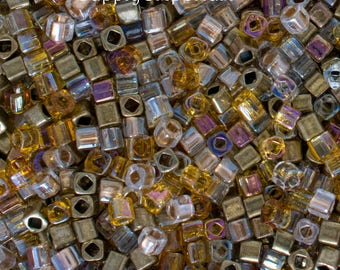 Mined Cubes 3mm Bead Mix - 3mm Mined Cubes Bead Mix - 5245 - 15 grams - Toho 3mm Cube Bead Mix Exclusive To SupplyEmporium