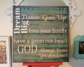 Personalized inspiration wood sign. Perfect graduation display or gift!