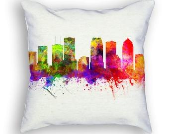 Tampa Florida Throw Pillow, 18x18, Cushion Home Decor, Gift Idea, Pillow Case 02