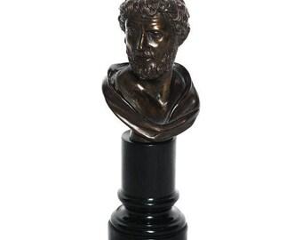 Vintage Roman Bust on Column