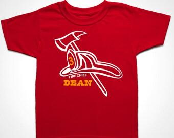 Fire truck birthday shirt. Fireman Hat Helmet Tee. 3rd birthday shirt. Fireman Gift. Firefighter Hat. Kids birthday shirt personalized