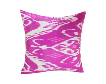 Pink Ikat Pillow, Hand Woven Ikat Pillow Cover, Ikat throw pillows, Pink Ikat Pillow, Designer pillows, Decorative pillows, Accent pillows