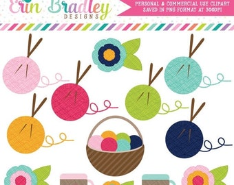 80% OFF SALE Knitting Clipart Clip Art for Personal and Commercial Use