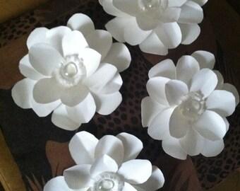 "Heavyweight paper flower Magnolia - (set of 6) - ""Still Magnolias"""