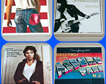 Bruce Springsteen - Springsteen Albums - Springsteen Music - Springsteen Coasters - E Street Band - Tile Coasters - The Boss