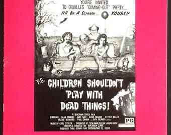 US pressbook  Children Shouldn't Play with Dead Things Dir. Bob Clark 1972