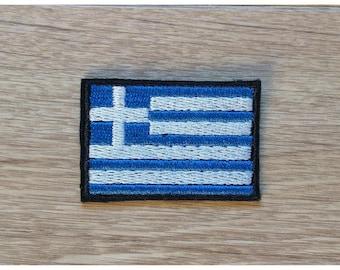 Bonding coat, patch to sew or stick flag Greek/Greece 5 cm