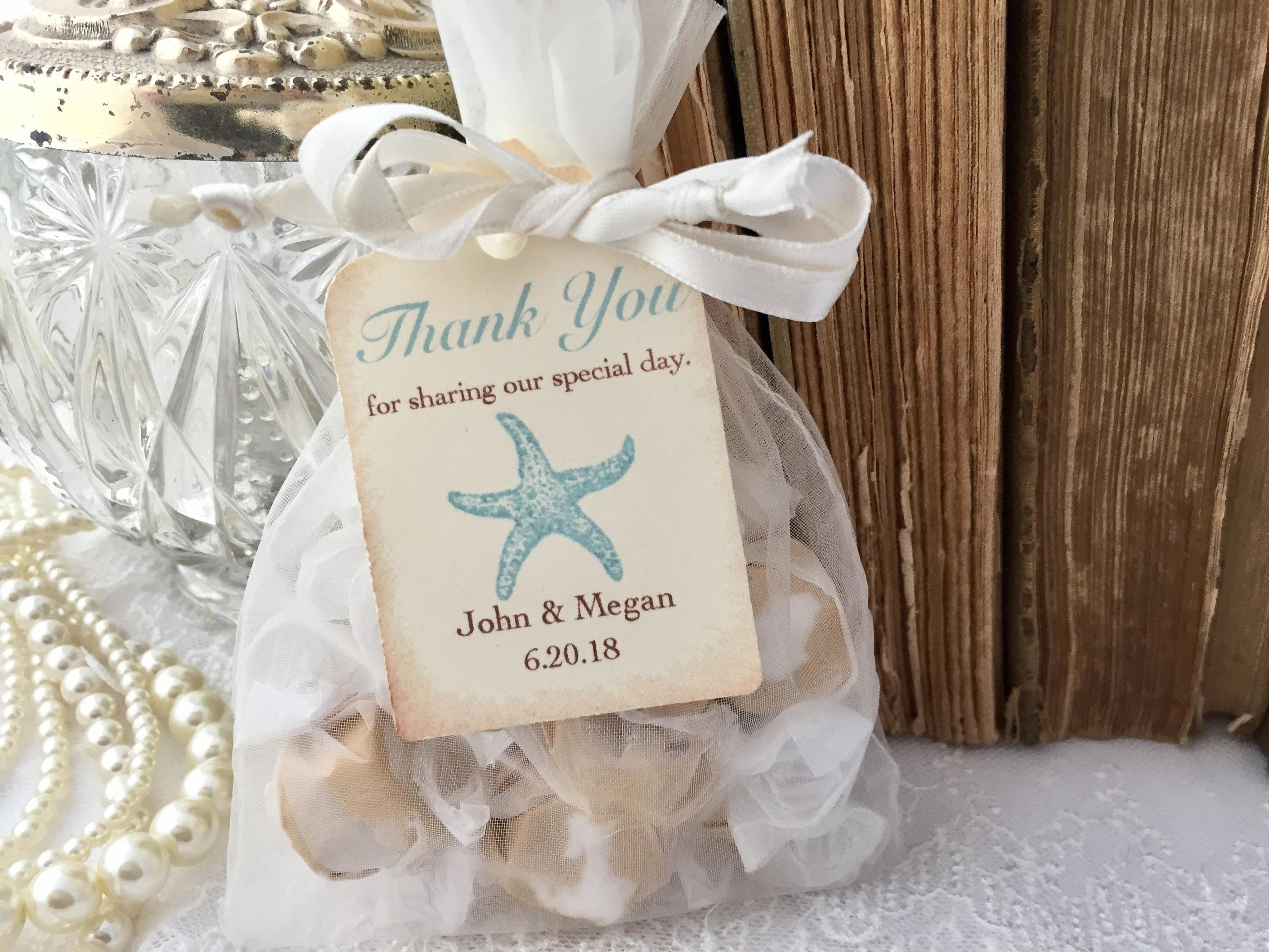 Beach Wedding Favor Bags Aqua Starfish Favor Bags Wedding