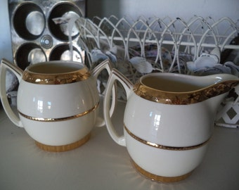 Vintage Crooksville Cream and Suger Set