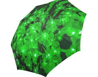 Garland Lights Umbrella Garland Umbrella Green Umbrella Designed Umbrella Photo Umbrella Rainbow Umbrella Photo Umbrella Automatic Abstract