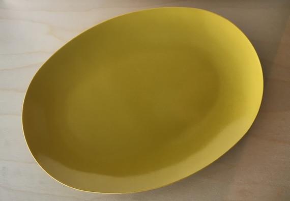 & Melmac Melamine Dinnerware 1950s golden yellow serving platter