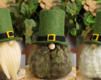 Irish LEPRECHAUN Gnome, St Patrick's Day, SEAMUS, Green Gnomes, Irish Gnome, Irish Gifts, Ireland, Irish Folklore, Irish Stories, Gnome Home