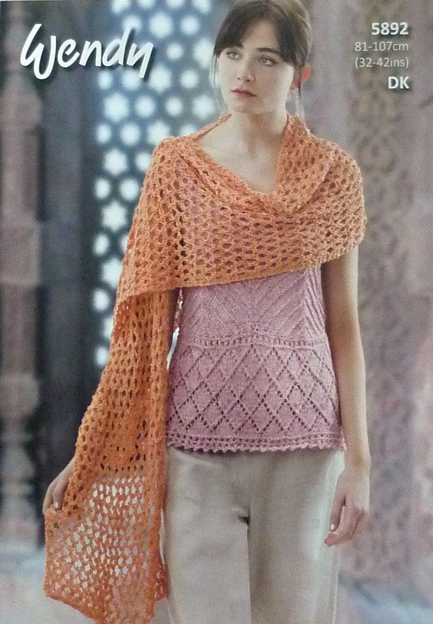 Womens Knitting Pattern W5892 Ladies Sleeveless Shoe String Strap V ...