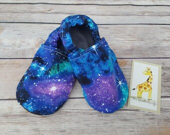 Soft sole moccasin booties-Galaxy