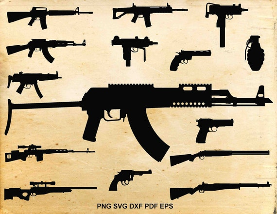 gun svg files weapons silhouette guns clipart pistol rh etsy com no guns clipart guns clipart free