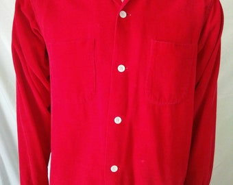 Vintage 60's Lanier men's long sleeve corduroy shirt size Medium IigbHPHq98
