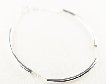 Ho'okele bracelet  - minimal silver bracelet, delicate silver bracelet, modern silver bar bracelet, layering bracelet, maui, hawaii jewelry