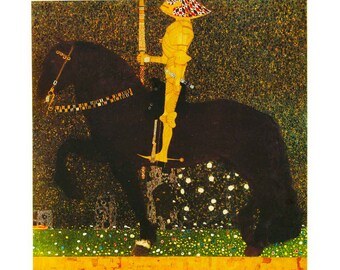 Klimt - The Golden Knight beautiful fine art print in choice of sizes