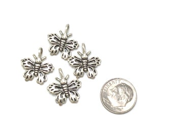 Sterling silver butterfly charm/pendant