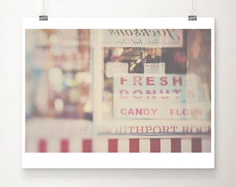 food photography donut photograph seaside photograph English decor food print donut print seaside print England photograph