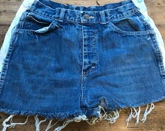 Vintage denim shorts - recycled