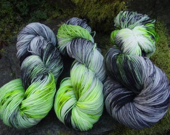 Handpainted sock yarn, fingerling yarn, Superwash Merino  Nylon, 100 grams-Westworld