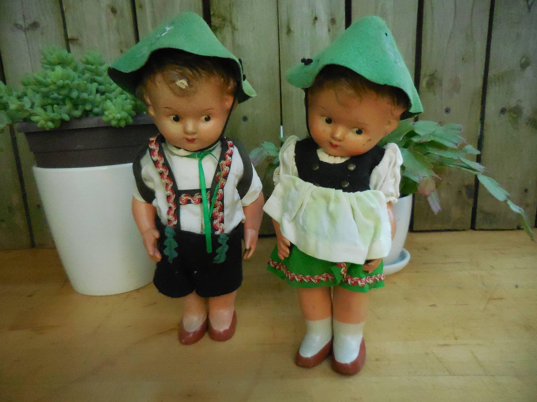 Vintage Steha Hansel & Gretel West German Doll 1940 1950