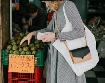 Black Crossbody Bag, Messenger Crossbody Bag, Crossbody Leather Bag, Shoulder Sling Bag, Shoulder Bag, Small Leather Bag, Crossbody Purse