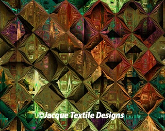 Textile Artist Made Lycra  Knit Fabric Diamond Athletic Apparel Swimwear Swim Suit