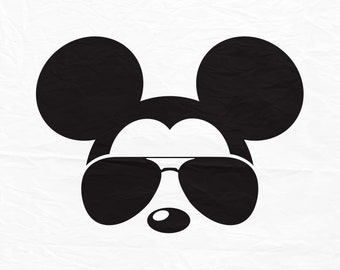 Disney, Mickey, Minnie, Mouse, Aviators, Sunglasses, Icon, Head, Ears, Digital, Download, TShirt, Cut File, SVG, Iron on, Transfer