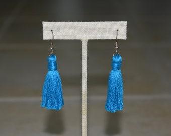 Statement Tassel Earrings. Dangle Earrings. Single Tassels. Ear Candy. Handmade Tassels. Stainless Steel. Ear Accessory. For Her. Under 20.