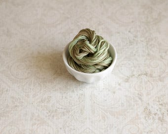 OLIVE BRANCH hand-dyed embroidery floss from Classic Colorworks at thecottageneedle.com cross stitch thread