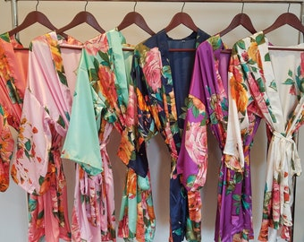 bridesmaid robes, bridesmaid gift, bridesmaid gifts, bridesmaid robe, getting ready robes, bridal party robes, wedding robes, floral robe