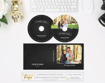 CD DVD Template - CD Case - Photography Template - Whcc cd template - Instant Download - Printed dvd - sku: dv001