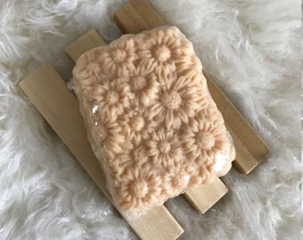 Natural Handmade Soap - Daisy Bar Design - Citrus and Floral SHINE Fragrance - Essential Oils, Kaolin Clay - Excellent Easter Basket Gift!